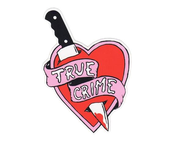 True Crime Vinyl Sticker