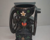Cast Iron Miniature Coffee Grinder Mill Painted Collectibles Free Shipping