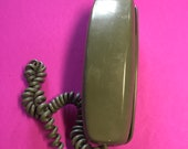 Vintage quot retro quot Green Western Electric Trimline Dial Tone Telephone