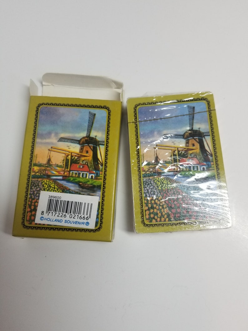Vintage Holland Playing Cards Souvenir UnOpened  Free Shipping