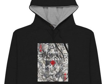 Ace of Diamonds Hoodie | Divination Meaning Playing Card Art on a Champion Hoodie