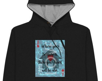 Ace of Hearts Hoodie | Divination Meaning Playing Card Art on a Champion Hoodie