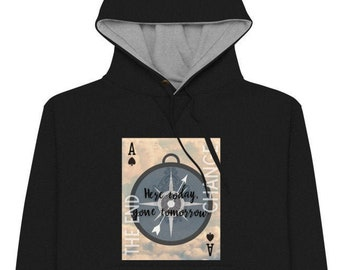 Ace of Spades Hoodie | Divination Meaning Playing Card Art on a Champion Hoodie