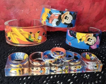 These are some of the most smiley rings on Earth   Get Handmade Resin Jewelry with Cartoon Playing Cards Today!