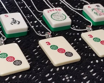 Mahjong Upcycled Game Piece Necklaces are a great good luck gift! Get or give some playful style with one of these handmade necklaces today!