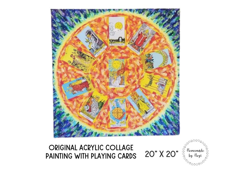 A Wish for the World    20 x 20 Tarot Card Art image 0