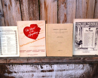 Lot of Vintage Piano Sheet Music from the 1940's (170 sheets)