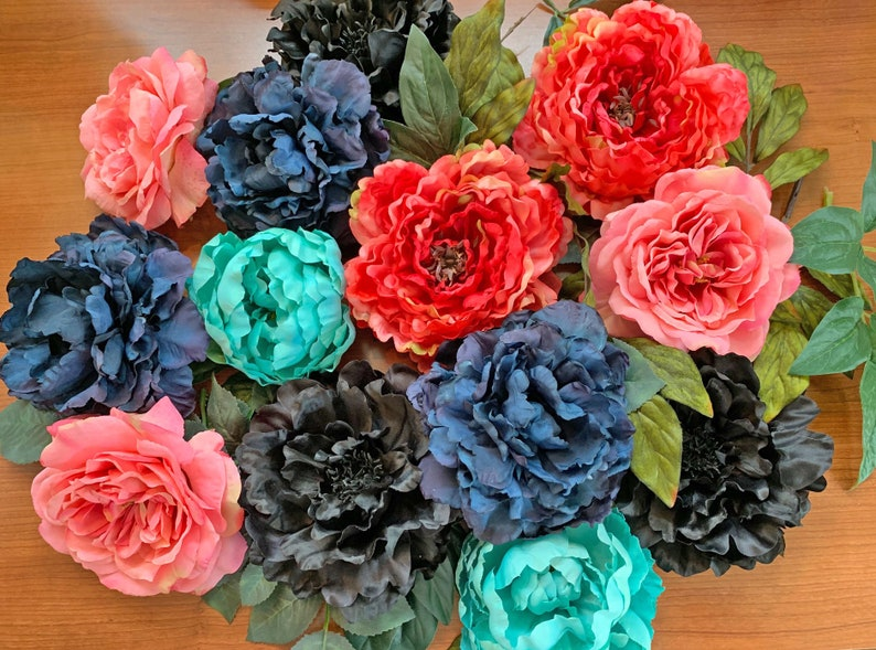 Vintage Inspired Shabby Chic LARGE Silk Flower Flower Pin for image 0