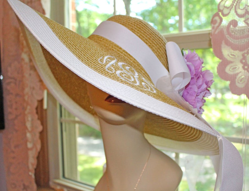 Personalized Bridal Bride Wedding Hat Monogrammed Bride image 0
