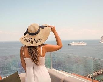 Personalized Mrs. Floppy Hat Phrase Hat Sayings Hat Cruise Bridal Shower Retirement Beach Monogram Statement Hat