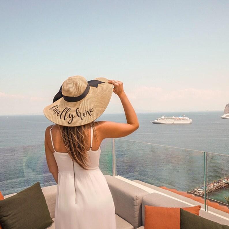 Personalized Mrs. Floppy Hat Phrase Hat Sayings Hat Cruise image 0
