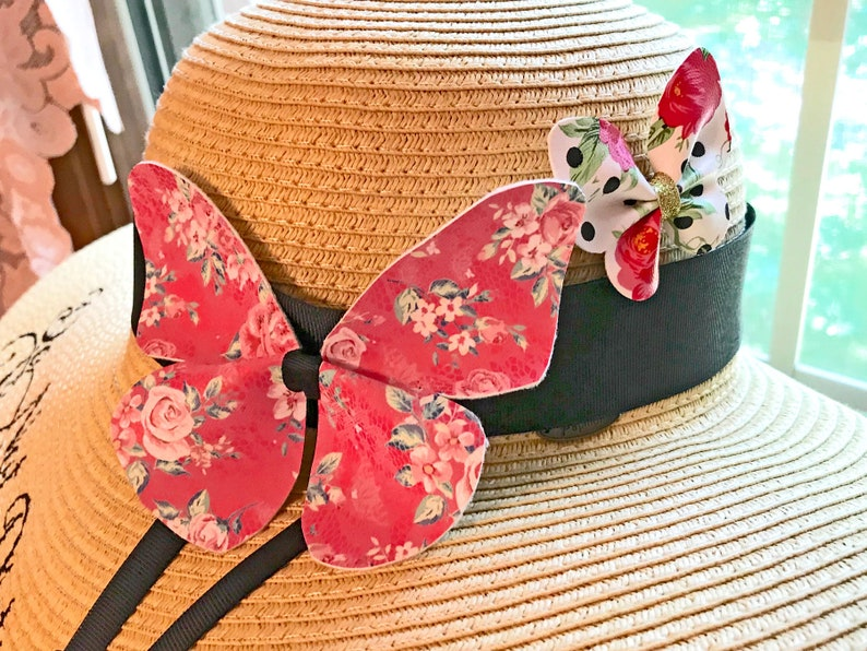 Personalized Butterfly Mrs Hat Statement Hat Honeymoon Bridal image 0