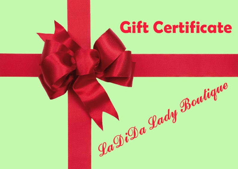 LaDiDa Lady Boutique Gift Certificate image 0