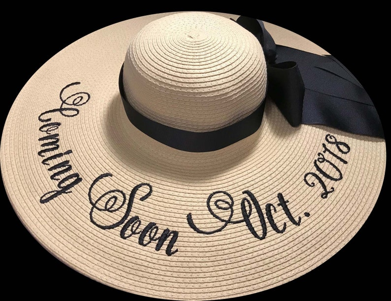 Personalized Baby photo Shoot Hats Baby On Board Photo Props image 0