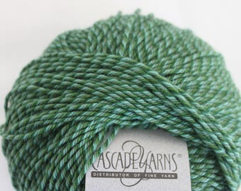 "CASCADE QUATRO YARN - 220 Superwash - ""Jamaica"" blue green worsted"