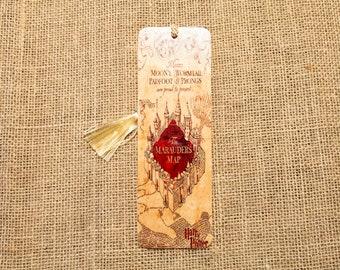 Wizarding Map Wood Bookmark
