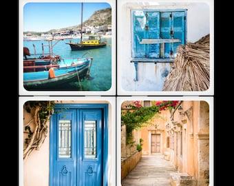 Eyeshoot The Beauty of Greece Ceramic Coaster Set