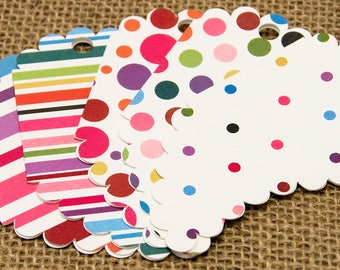 Polka Dot Tags, Polka Dot, Handmade Tags, Handmade, Patterned Gift Tag, Patterned, Unique Gift Tags, Unique, Birthday, Anniversary, Gift Tag
