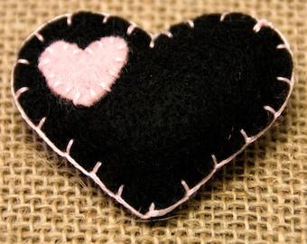 Heart, Hand-Sewn, Embroidery, Pocket Heart, Gift, Birthday, Missing You, Loved Ones, Keepsake, Floss, Felt, Birthday Gift, Anniversary Gift