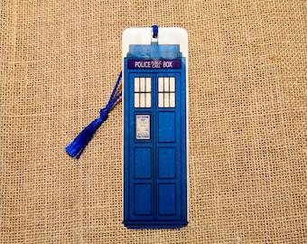 Dr. Who Tardis Wood Bookmark