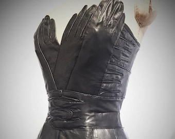 Deluxe Vampy Overbust Glove Corset by Louise Black Custom made to your measurements