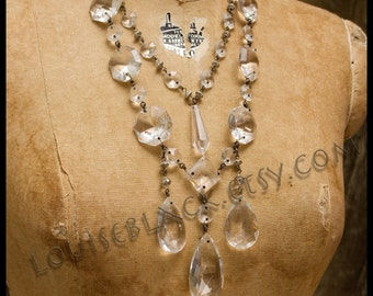 Crystal Cabaret Flapper Necklace by Louise Black