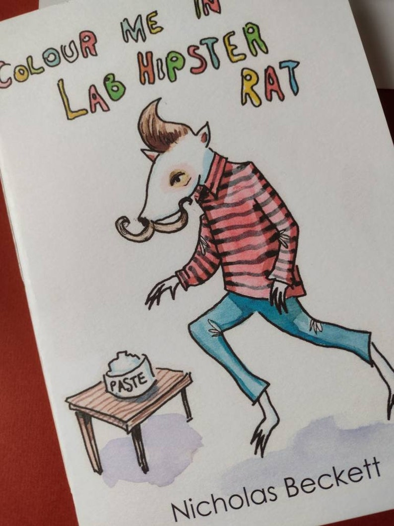 Colour Me In Hipster Lab Rat  Colouring book image 0