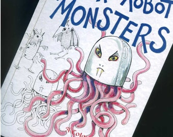 Vampire Robot Monsters - Colouring Book