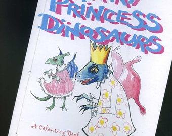 Fairy Princess Dinosaurs - Colouring Book