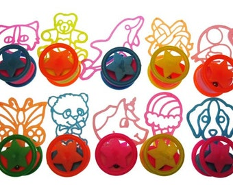 12 x Stencil-like Retro 1980s Rolling Toys PARTY FAVORS