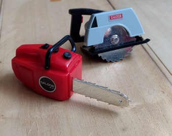 Vintage IT REALLY WORKS! (except they don't) Vintage Wind-up Power Tool Toys by Galoob