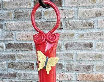 Hanging Hummingbird Feeder - Garden Decor - Bird Feeder - Outside Decor - Hummingbirds - Gift For Bird Lover - Garden Decor - Outdoor Art