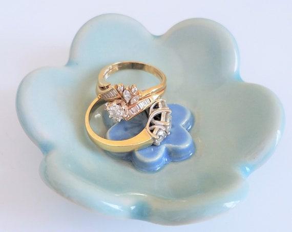 Jewelry Dish - Trinket Dish - Tea Bag Holder - Ring Dish - Votive Candle Holder - Handmade Pottery - Ceramic Dish - Free Shipping