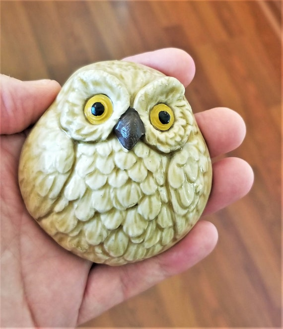 Shaman Rattle - Owl Rattle - Clay Rattle - Clay Owl - Meditation - Relaxation - Meditation Gift - Spiritual - Spirit Rattle - FREE SHIPPING