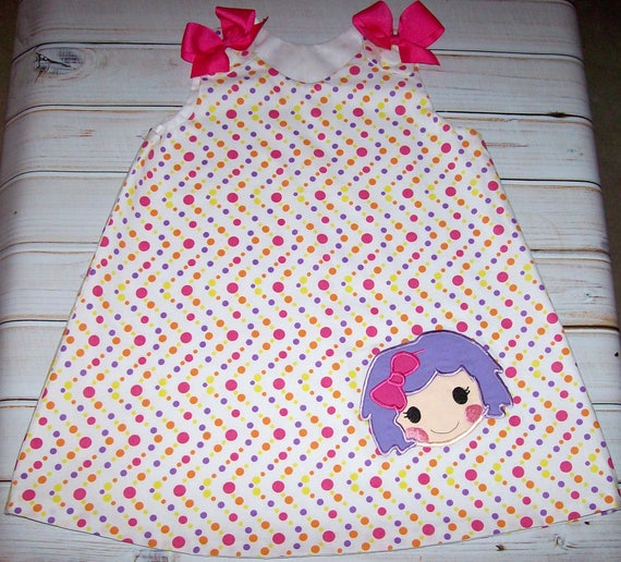 SAMPLE SALE Cute Fish Applique A-line Dress Size 2T--Ready to Ship--Beach Vacation--Birthday Party