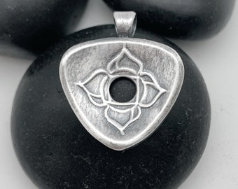 MADE TO ORDER: Root Chakra, Small Triangle Fine Silver Centering Pendant©, Yoga Necklace, Meditation, Mindfulness,