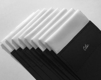 Cotton Pocket Square in White  (ONE)