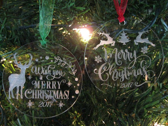 Acrylic Etched Christmas Ornament 2018