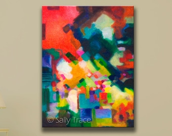 """Large Modern Contemporary Art Giclée Print from my Original Abstract Acrylic Painting, """"Unfolding"""", Abstract Painting Print, large wall art"""
