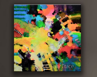 Giclée Print on Canvas from my Modern Art Abstract Painting, Large Abstract Colorful Canvas Wall Art, Contemporary Art, Modern Expressionism