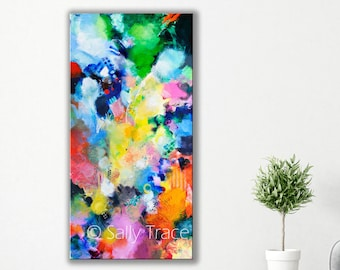 Modern Art Giclée Print on Stretched Canvas from my Original Abstract Painting, Canvas Print Wall Art, Large Abstract Canvas Fine Art Print