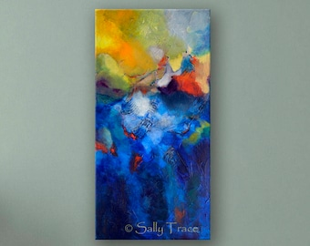 Modern Contemporary Art Giclée Print on Stretched Canvas, from My Original Abstract Painting