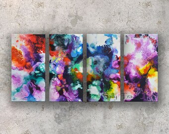 abstract art prints on canvas from my original abstract etsy