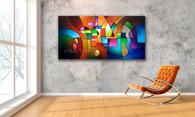 Original Abstract Painting Commission Geometric Art Abstract image 0
