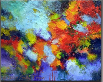 Abstract Painting, Acrylic Painting, Textured Impasto Painting, Modern Painting, Abstract Expressionism, colorful abstract fine art painting