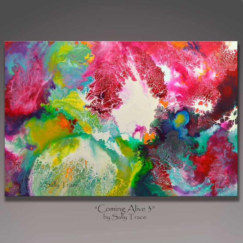 Abstract Painting Print Fluid Painting Print From My Original image 0