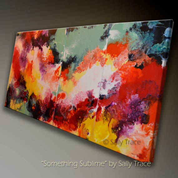 abstract art giclee prints on stretched canvas made from my etsy