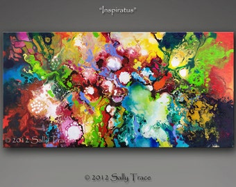 Abstract Fluid Art Print, Giclée print on stretched canvas from my original abstract painting