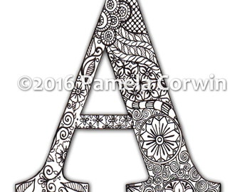 A Monogram Coloring Page