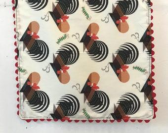Organic Cotton Rick rack  Cloth Napkins